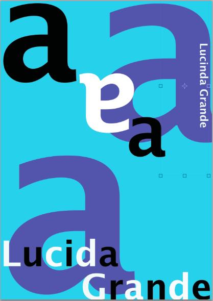 Lucida Grande Font Poster